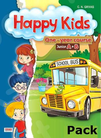 Happy Kids Junior A+B (One-Year Course) - Πακέτο Όλα τα Βιβλία της τάξης (Grivas)
