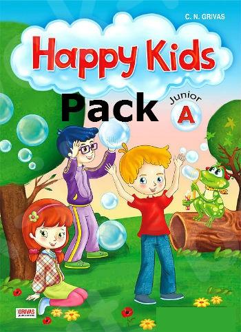 Happy Kids Junior A - Πακέτο Όλα τα Βιβλία της τάξης (Grivas)