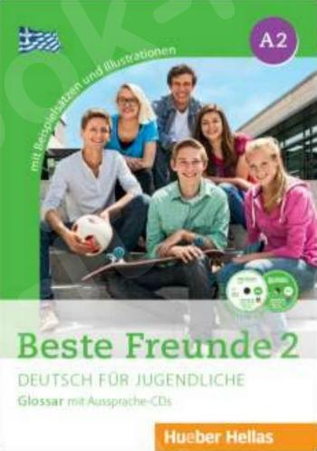 Beste Freunde 2 - Glossar mit Aussprache-CDs (Γλωσσάριο με  CDs για τη σωστή προφορά των λέξεων) - Νέο !!!