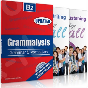 Super Course - B2 for all - Πακέτο Καθηγητή(Grammalysis B2 - listening - writing)