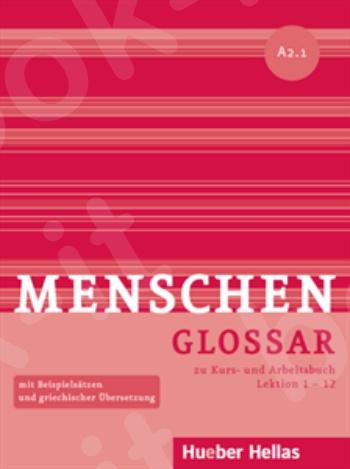 Menschen A2/1 - Glossar zu Kurs- und Arbeitsbuch, Lektion 1 – 12 (Γλωσσάριο)
