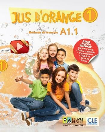 Jus d'Orange 1 - A1.1 Pack Super Energie(Livre de l'élève+Cahier+DVD-ROM+Carte Ronde de l'année+Transcriptions)