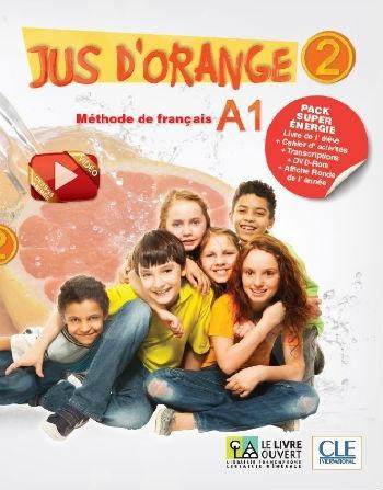 Jus d'Orange 2 - A1 Pack Super Energie(Livre de l'élève+Cahier+DVD-ROM+Carte Ronde de l'année+Transcriptions)