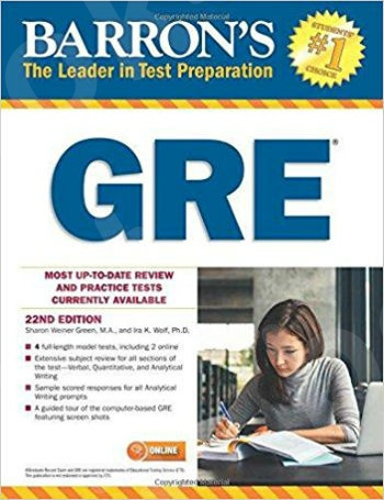 Barron's GRE, 22nd Edition: with Bonus Online Tests