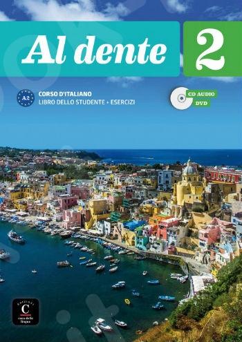 Al Dente 2(A2), Libro dello Studente+Esercizi+CD+DVD (Βιβλίο Μαθητή+Ασκήσεων +CD+DVD)