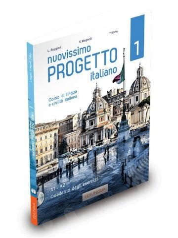 Nuovissimo Progetto Italiano 1(A1-A2) - Quaderno degli esercizi (+ CD audio) - (Βιβλίο Ασκήσεων) - 2019!!