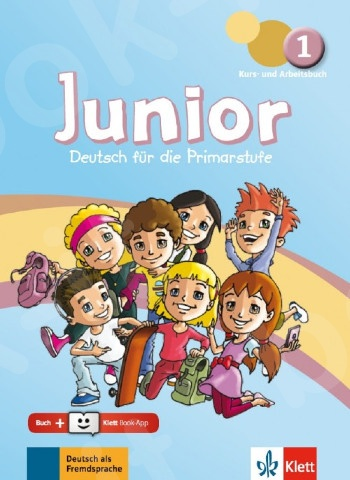 Junior 1, Kurs- und Arbeitsbuch + Online-Hörmaterial + Klett Book-App-Code (για 12μηνη χρήση)(Βιβλίο μαθητή και Ασκήσεων + οπτικοακουστικό υλικό online)