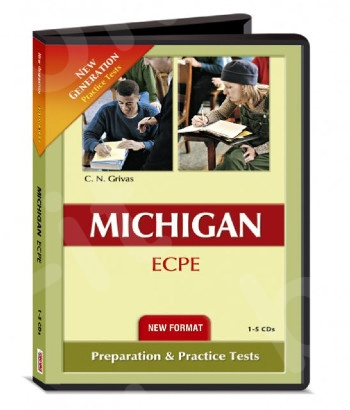 New Format 2021 New Generation Michigan ECPE [12 Practice Tests] - 9 Class Audio CDs (Grivas)