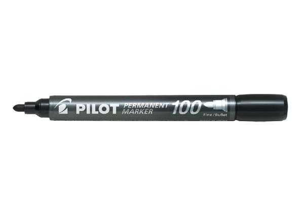Pilot Μαρκαδόρος Ανεξήτιλος SCA-100 Fine μαύρο 20Τ.