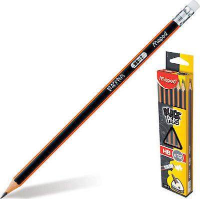 Μολύβια Black Peps με γόμα -HB